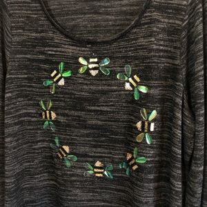Lane Bryant Sweaters - Lane Bryant NWT knit top sequin bummble bee 14/16